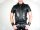 R&Co Short Sleeve Police Shirt Jeans Leather Black