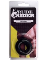 Rude Rider Fat Stretchy Cock Ring Black