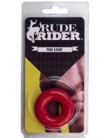 Rude Rider Fat Stretchy Cock Ring Red
