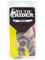 Rude Rider Fat Stretchy Cock Ring Clear