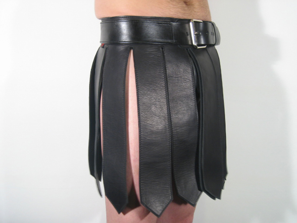 R&Co Leather Gladiator Kilt