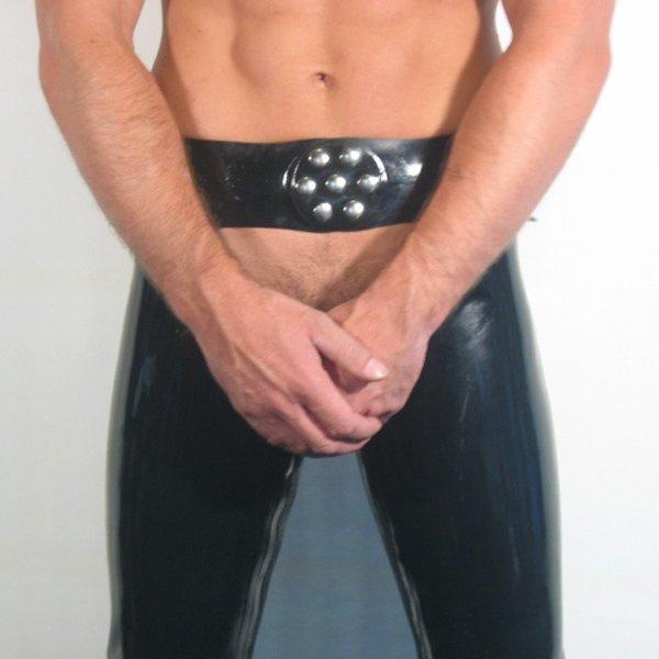 R&Co Rubber Chaps Inside-zip Black 0,9 mm