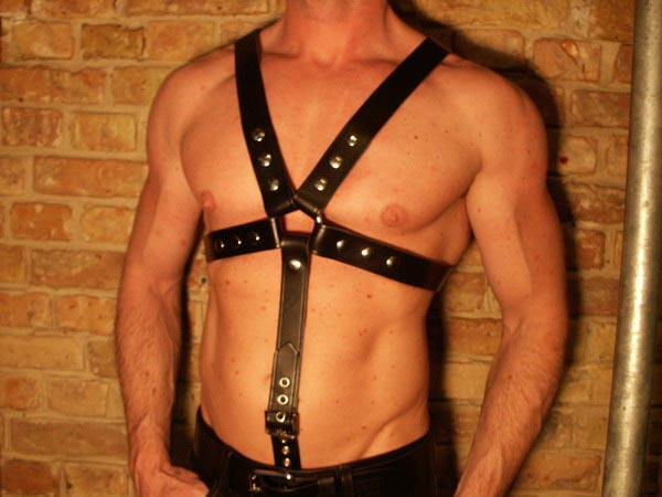 R&Co Leather Cock Ring Attachment for Y-Harness