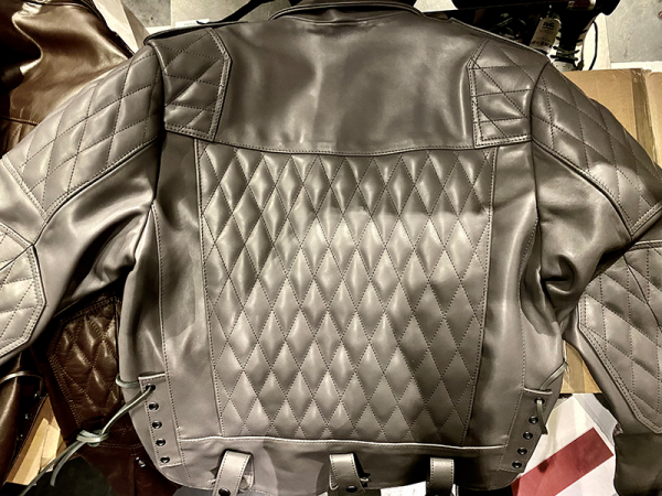 R&Co Marquis Jacket Diamond Grey Leather