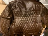 R&Co Marquis Jacket Diamond Brown Leather