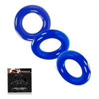 Oxballs Willy Cock Ring 3-Pack - Police Blue