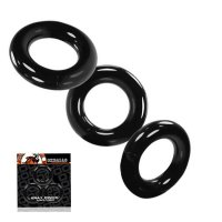 Oxballs Willy Cock Ring 3-Pack - Black