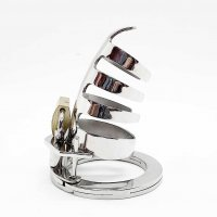 The Classic Stainless Steel Cock Cage Silvercolor