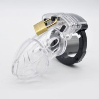 BRUTUS Alpha Cage - Chastity Cage - Clear