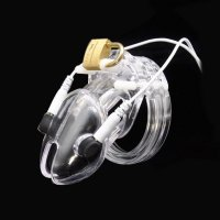 BRUTUS Volt Cage - Electro Chastity Cage - Clear