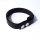 R&Co Leather Biceps Band Plain Black 2 cm