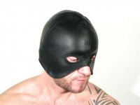 R&Co Leather Lace Up Executioners Hood