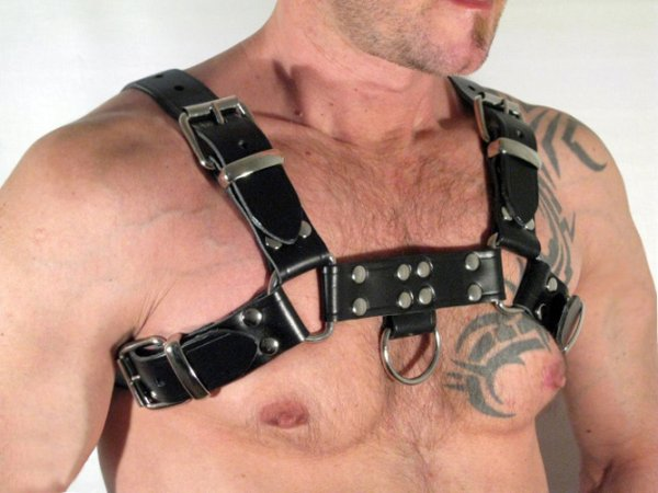 R&Co H-Harness in Belt Leather Black