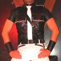 R&Co Sam Browne Leather Strap Black