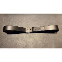 R&Co Leather Belt 4 cm Black