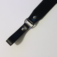R&Co Sam Browne Black Soft Leather Strap + Piping