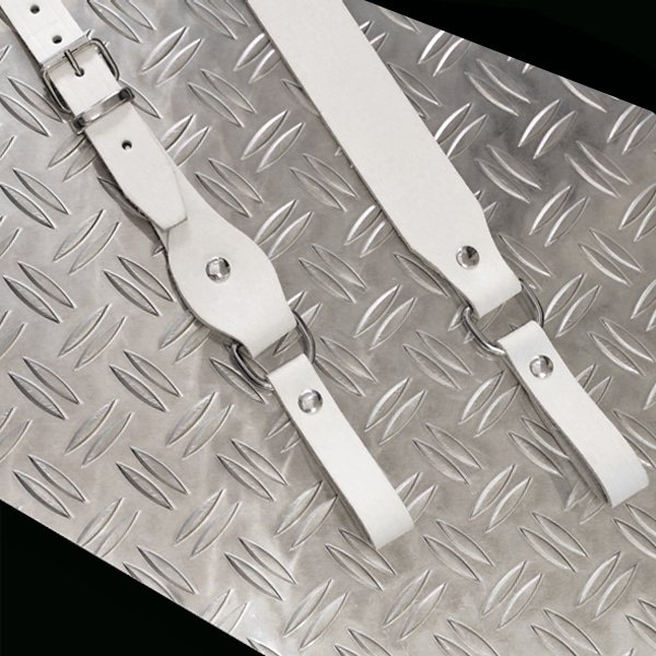 R&Co Sam Browne Leather Strap White