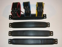 R&Co Leather Biceps Band Black 4 cm + Piping