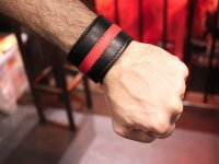 R&Co Wristband 4.5 cm Wide With Coloured Stripe