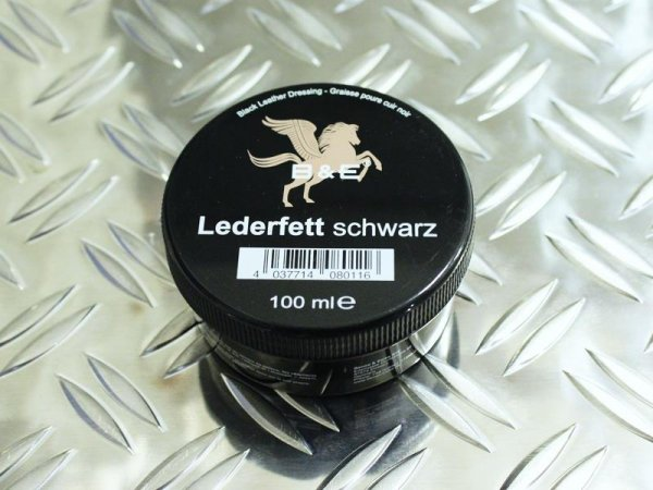 B&E Lederfett Schwarz