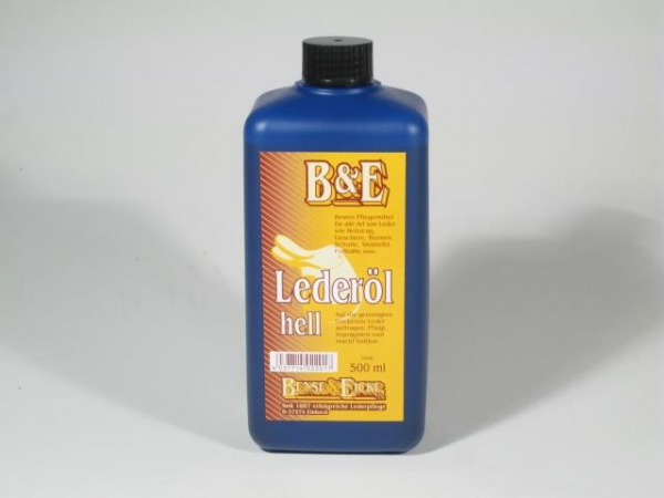 B&E Lederöl hell 500 ml
