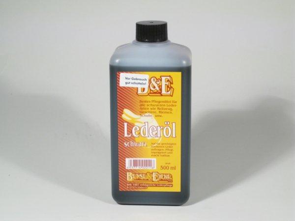 B & E Oil for leather black 500 ml