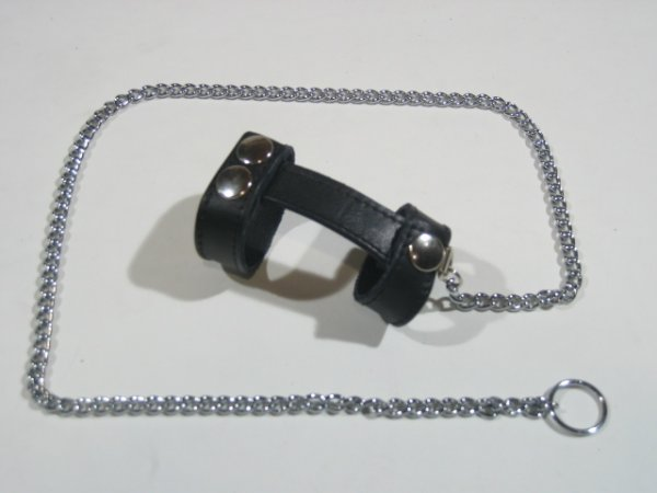 R&Co Cockharness With Chain with Pin Pricks
