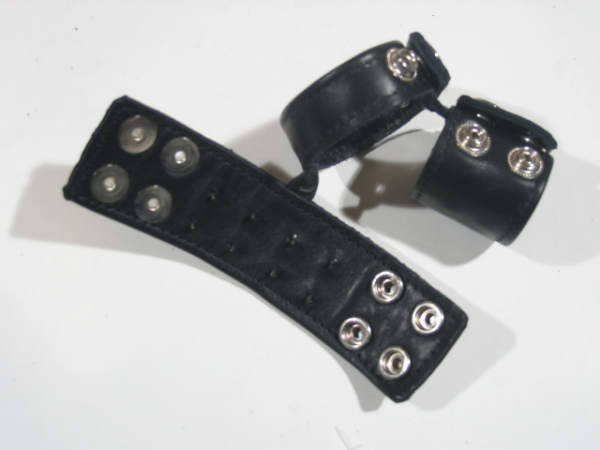 R&Co Triple Cockstrap Wide Bands Pin Pricks