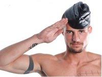 R&Co Leather Airforce Cap 58 cm - L