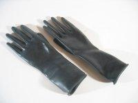 Rubber Gloves Wrist Length Black L