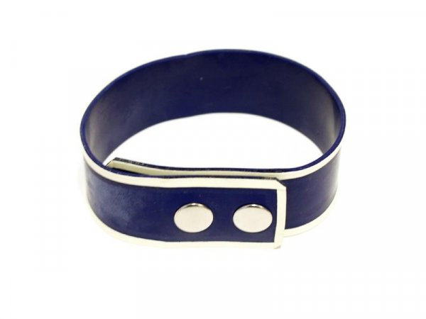 R&Co Rubber Biceps Band in Blue with White Trim L/XL