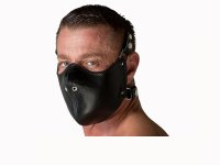 665 Leather Mouth Restictor Black