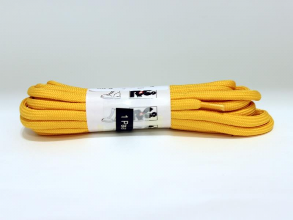 R&Co Round Laces 10 Holes 180 cm Yellow