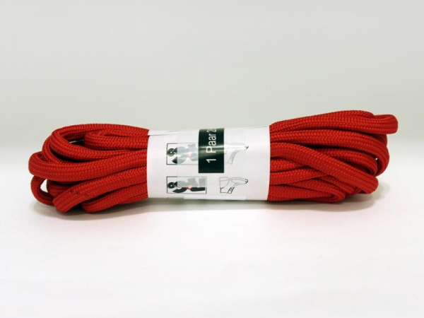 R&Co Round Laces 14 Holes 230 cm Red