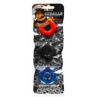 Oxballs Ringer Cock Ring 3-Pack Multi-Colour
