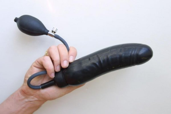 Rubber Dildo Inflatable Black