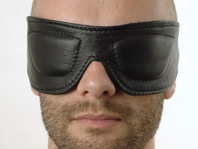 R&Co Leather Blindfold Padded