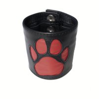 R&Co Wrist Wallet + Paw Red