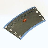R&Co Gauntlet Wallet + Pipings Blue