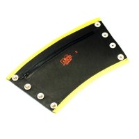 R&Co Gauntlet Wallet + Pipings Yellow