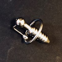 Stainless Steel Torpedo Penis Plug with 28mm Ring