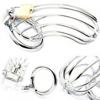 Black Label Male Chastity Device - Bird Cage - Stainless Steel
