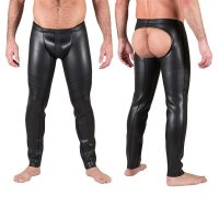 665 Neo Open Ass Pants Black