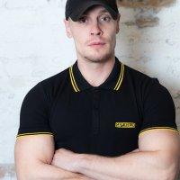 Capt. Berlin Polo-Shirt Black + Stripes Yellow