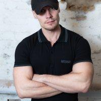 Capt. Berlin Polo-Shirt Black + Stripes Grey