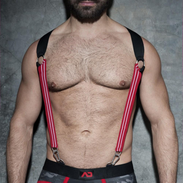 Addicted ADF85 Elastic Suspenders Red