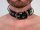 R&Co Slave Collar with 4 D-Rings 3 cm wide short Version