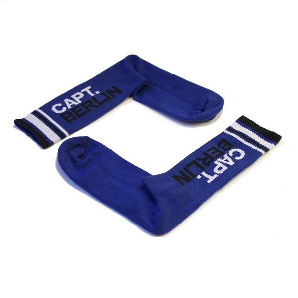 Capt. Berlin Crew Cut Socks Blue White Black