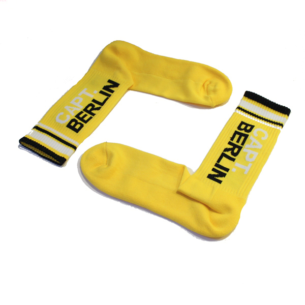 Capt. Berlin Crew Cut Socks Yellow White Black
