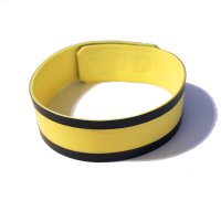 R&Co Rubber Biceps Band in Yellow with Black Trim